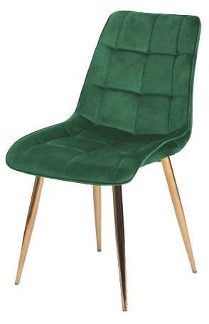 Стул для столовой Signal Meble Chic Velvet Green/Gold, 1 шт.