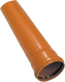 Plastimex Sewage Pipe Brown 110mm 1m