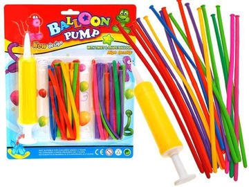 Balons Balloons With Pump Colorful