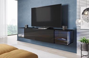 ТВ стол Cama Meble RTV Vigo Sky, черный, 1600x400x300 мм