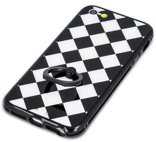 Mocco Grid Ring Back Case For Huawei P9 Lite Black/White