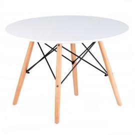 Kafijas galdiņš GoodHome Scandinavia Modern White/Beech, 600x600x480 mm