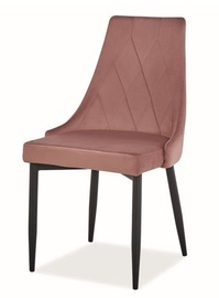 Ēdamistabas krēsls Signal Meble Trix B Velvet Antique Pink/Black