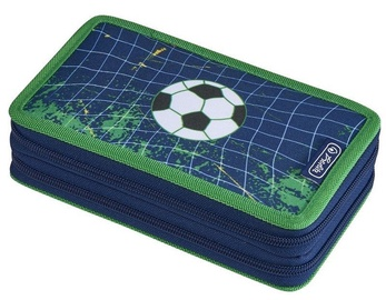 Herlitz Double Pencil Case 23Pcs Football