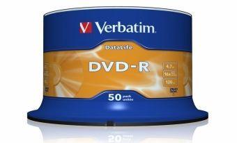 Verbatim DVD-R Datalife 4.7Gb 16x Spindle 50pcs