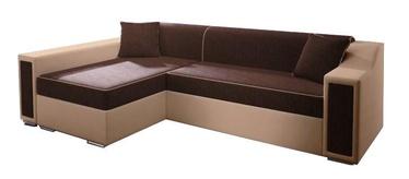 Stūra dīvāns Idzczak Meble Milton Mini Brown/Light Brown, 282 x 160 x 77 cm
