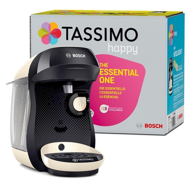 Kapsulas kafijas automāts Bosch TAS1007 Tassimo Happy Black/Cream