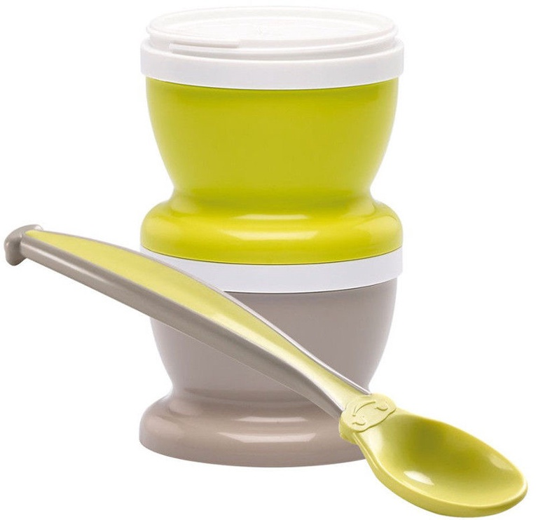 Thermobaby Baby-Food Jars With Spoon Green