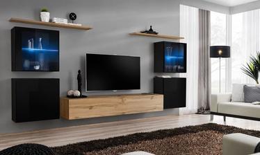 Dzīvojamās istabas mēbeļu komplekts ASM Switch XIV, melna