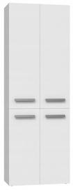 Top E Shop Nel Tall Bathroom Cabinet With 1 Basket White Matt