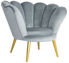 Atzveltnes krēsls Signal Meble Magnolia Grey/Gold, 95x60x87 cm