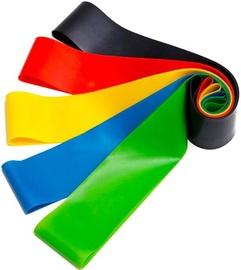 Гимнастическая лента TakeMe Latex Exercise Resistance Bands Rainbow 5pcs
