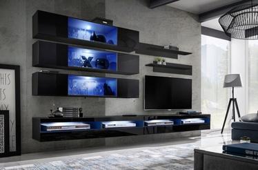 ASM Fly U6 Living Room Wall Unit Set Black