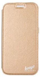 Beeyo Glamour Book Case For LG K3 Gold