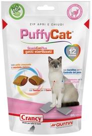 Лакомство для кошек Crancy Snack Cat Plus PuffyCat, чипсы, печенье, 0.06 кг