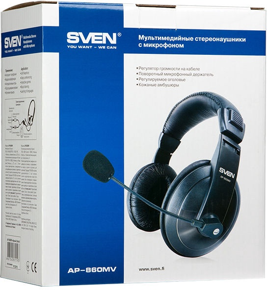 Наушники Sven AP-860MV, черный