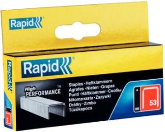 Rapid Finewire 53/10mm Red Staples 5000pcs