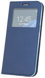 Blun Premium Matt Smart S-View Magnetic Fix Book Case For Xiaomi Redmi Note 4/4X Dark Blue