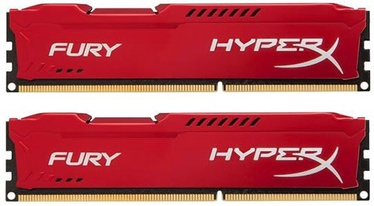 Operatīvā atmiņa (RAM) Kingston HyperX Fury Red Series HX318C10FRK2/8 DDR3 (RAM) 8 GB CL10 1866 MHz