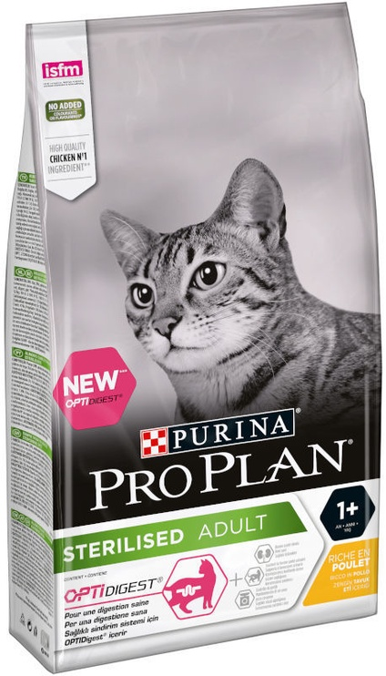 Purina Pro Plan Sterilised Adult Optidigest Cat Food With Chicken 10kg