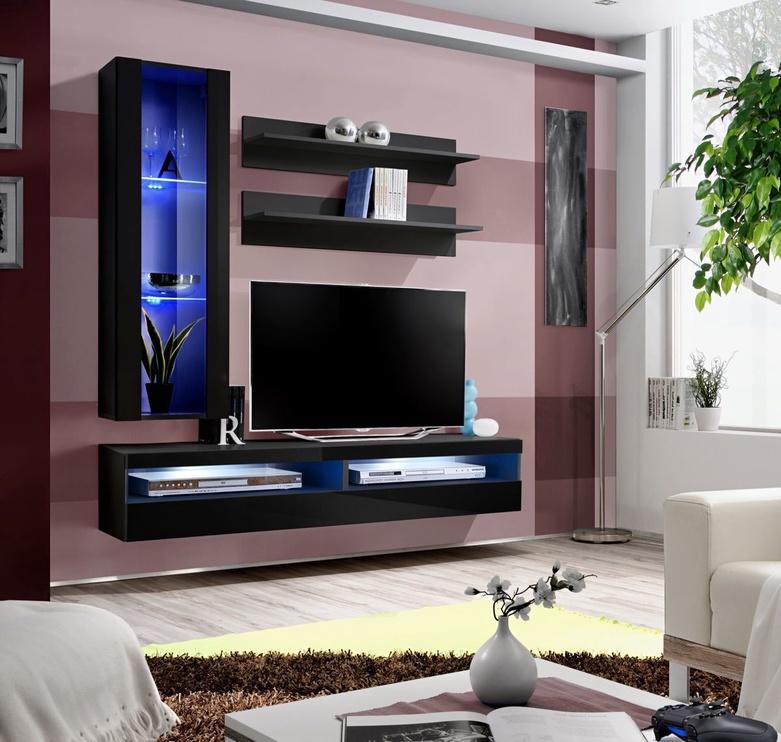 Dzīvojamās istabas mēbeļu komplekts ASM Fly S8 Black