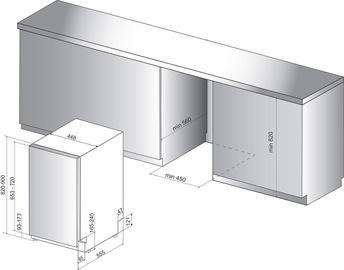 Bстраеваемая посудомоечная машина Whirlpool Wsic 3M17
