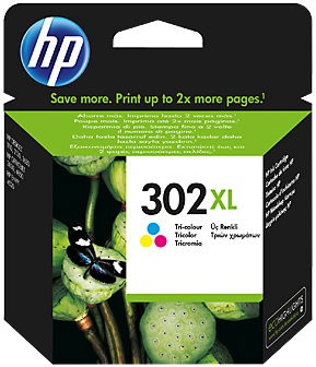 HP 302XL Tri-Color C/M/Y