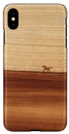 Man&Wood Mustang Back Case For Apple iPhone XS Max Brown