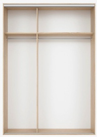 Black Red White Wardrobe Frame Nadir 170 Light San Remo Oak