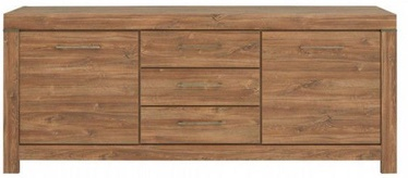 Kumode Black Red White Gent 85x200x45cm Stirling Oak
