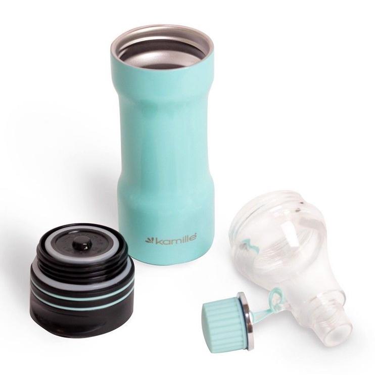 Kamille Vacuum Mug 2in1 320ml Blue KM2061