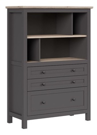 Black Red White Bocage Bookshelf Graphite/San Remo Oak