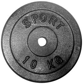 Disku svari Kelton Cast-Iron Weight Disc Black 10kg