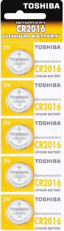Toshiba Lithium Battery CR2016 x 5