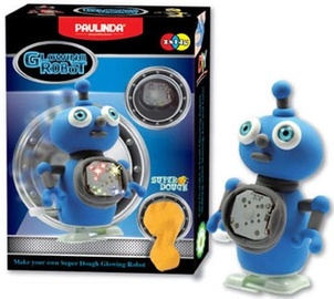 Modelēšanas masa Paulinda Moving Glowing Robot Blue 081484-3