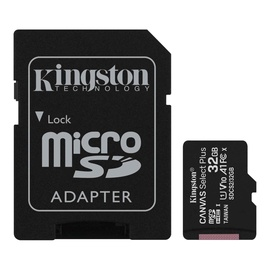 Kingston Canvas Select Plus 32GB microSDHC UHS-I Class 10 + SD Adapter