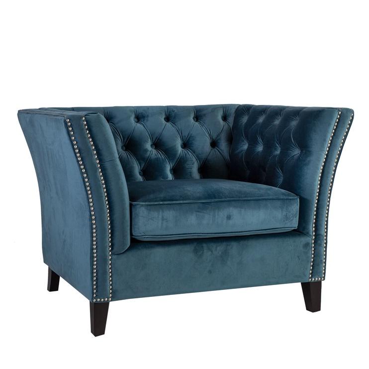 Atzveltnes krēsls Home4you Mayers 20144, zila, 113x86x73 cm