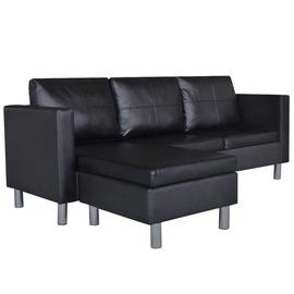 Stūra dīvāns VLX 3-Seater 241979, melna, 188 x 122 x 77 cm