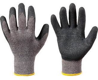 DD Knitted Gloves With Latex Wrist Cover Black 10