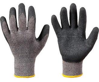 Darba cimdi DD Knitted Gloves With Latex Wrist Cover Black 10