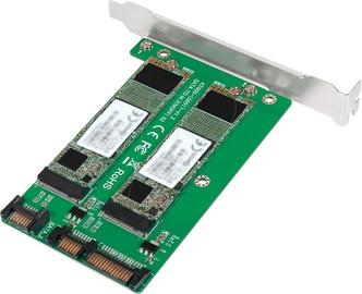 Карта расширения Logilink 2x SATA - 2x M.2 SATA SSD