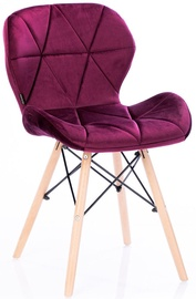 Ēdamistabas krēsls Homede Silla Velvet Red, 4 gab.