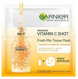 Маска для лица Garnier Skin Naturals Vitamin C Shot Fresh Mix Tissue Mask, 1 шт.