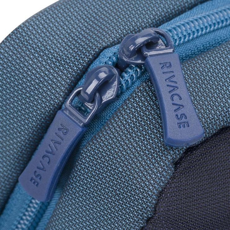 Rivacase Suzuka Laptop Bag 15.6'' Steel Blue/Aquamarine