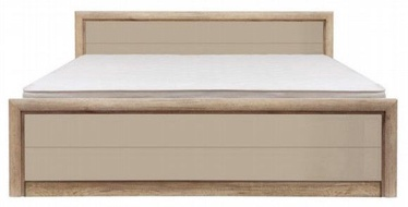 Кровать Black Red White Koen 2 Oak/Grey Sand, 205.5x165 см