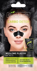 Sejas maska Bielenda Carbo Detox Cleansing Carbon Nose Pore Strips, 2 gab.