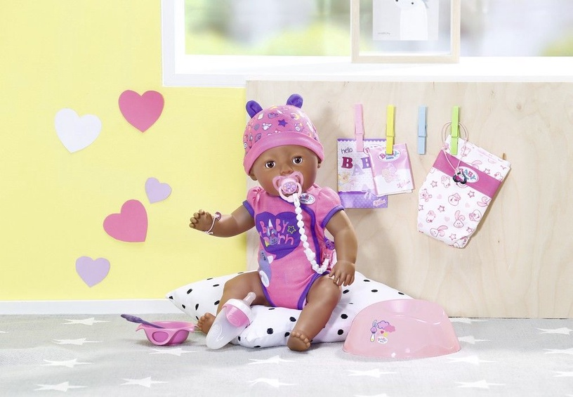 Zapf Creation Baby Born Doll Soft Touch Girl Brown Eyes