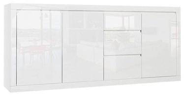 Комод Tuckano Sparkle, белый, 203x40x90 см