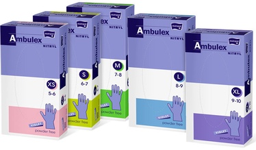 Matopat Ambulex Nitryl Powder Free Gloves XS Purple