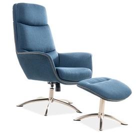 Atzveltnes krēsls Signal Meble Regan Blue, 75x80x104 cm